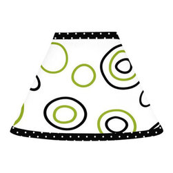 Sweet Jojo Designs - Spirodot Lime and Black Lamp Shade by Sweet Jojo Designs - The Spirodot Lime and Black Lamp Shade by Sweet Jojo Designs, along with the  bedding accessories.