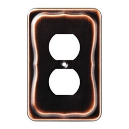 Liberty Hardware - Liberty Hardware 144421 Tenley WP Collection 3.31 Inch Switch Plate - Bronze W/C - A simple change can make a huge impact on the look and feel of any room. Change out your old wall plates and give any room a brand new feel. Experience the look of a quality Liberty Hardware wall plate.. Width - 3.31 Inch,Height - 5.04 Inch,Projection - 0.28 Inch,Finish - Bronze W/Copper Highlights,Weight - 0.18 Lbs