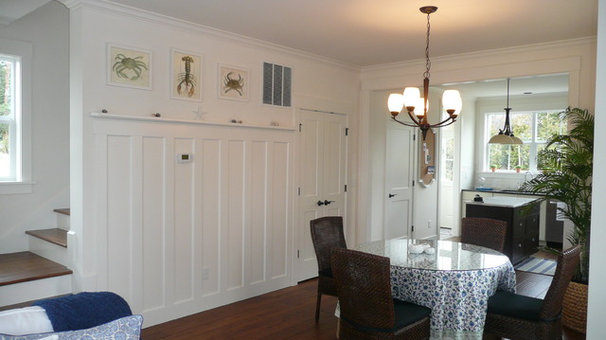 Traditional Dining Room Wainscot detail for a small dining room