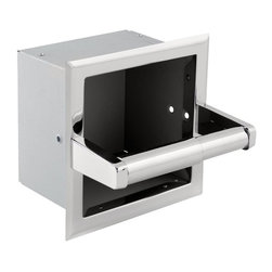 Franklin Brass - Franklin Brass Recessed Extra Roll Paper Holder - 970 - Shop for Toilet Paper Holders from Hayneedle.com! Perfect for offices or multi-use bathrooms the Franklin Brass Recessed Extra Roll Paper Holder offers a clean style and simple functionality. This attractive holder features a recessed design to hold an extra roll of paper. It comes in finish and size options to best fit your setting.About Franklin BrassWhether your bathroom is traditional transitional eclectic or modern Franklin Brass has the hardware and safety products that will put the finishing touches on every one. Functional elements hooks and towels bars ADA-approved grab bars and other assistive accessories get elegant upgrades with sleek designs and high-quality materials. Preferred by the hospitality industry in particular Franklin Brass has plenty for every consumer from residential to commercial.