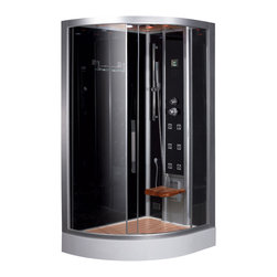 Ariel Platinum - Ariel Platinum DZ967F8 Steam Shower 47.7x35.4x89 - Right - These fully loaded steam showers include massage jets, ceiling & handheld showerheads, chromotherapy, aromatherapy and built in radios to help maximize the therapeutic experience.