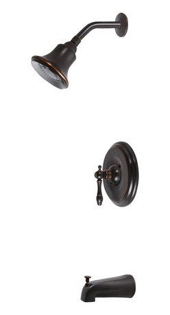 Premier - Charlestown Single Handle Tub and Shower Faucet - Parisian Bronze - Charlestown Single Handle Parisian Bronze Tub and Shower Faucet.