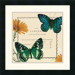 Amanti Art - Summer Pages III Framed Print by Sue Schlabach - With their bright, delicate and ornate wings, butterflies have long been a favorite for home decorators.