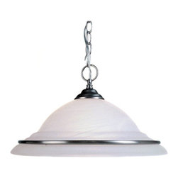 Livex Lighting - Livex North Port 8039-91 Pendant - 8039-91 - Shop for Chandeliers from Hayneedle.com! With its inverted bowl shade of frosted glass and brushed nickel finish the Livex North Port 8039-91 Pendant is both classic and contemporary. A graceful choice for your kitchen or dining room. This pendant light requires one 150-watt bulb not included. About Livex LightingLivex Lighting is a manufacturer and distributor of decorative residential lighting. The company was founded in 1993 and is now headquartered in a 150 000-square-foot facility in Morristown New Jersey. Livex Lighting currently offers over 2 500 products ranging from lighting fixtures for indoor and outdoor applications to lampshades chandelier shades ceiling medallions and accent furniture. The goal of Livex Lighting is to provide the highest-quality product at the most affordable price. We are constantly responding to the ever-changing needs styles and fashions of the lighting industry while always maintaining the highest standards of quality.