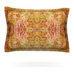 """Kess InHouse - Nikposium """"Goldenrod II"""" Yellow Gold Pillow Sham (Cotton, 40"""" x 20"""") - Pairing your already chic duvet cover with playful pillow shams is the perfect way to tie your bedroom together. There are endless possibilities to feed your artistic palette with these imaginative pillow shams. It will looks so elegant you won't want ruin the masterpiece you have created when you go to bed. Not only are these pillow shams nice to look at they are also made from a high quality cotton blend. They are so soft that they will elevate your sleep up to level that is beyond Cloud 9. We always print our goods with the highest quality printing process in order to maintain the integrity of the art that you are adeptly displaying. This means that you won't have to worry about your art fading or your sham loosing it's freshness."""