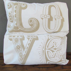 love pillowcase – brown - view this item on our website for more information + purchasing availability: http://redinfred.com/shop/category/free-shipping/love-pillowcase-brown/