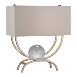 Dimond Lighting - 1-Light Table Lamp in Silver Leaf - Dimond Lighting D2687 1-Light Table Lamp in Silver Leaf