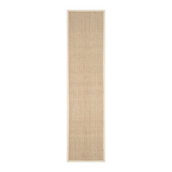 """Safavieh - Tyson Natural Fiber Rug, Natural / Ivory 2'6"""" X 10' - Construction Method: Power Loomed. Country of Origin: China. Care Instructions: Vacuum Regularly To Prevent Dust And Crumbs From Settling Into The Roots Of The Fibers. Avoid Direct And Continuous Exposure To Sunlight. Use Rug Protectors Under The Legs Of Heavy Furniture To Avoid Flattening Piles. Do Not Pull Loose Ends; Clip Them With Scissors To Remove. Turn Carpet Occasionally To Equalize Wear. Remove Spills Immediately. Hand-woven with natural fibers, this casual area rug is innately soft and durable. This densely woven rug will add a warm accent and feel to any home. The natural latex backing adds durability and helps hold the rug in place."""