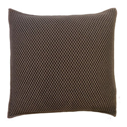 Rani Arabella - Rani Arabella Brown Duke Cashmere Blend Pillow, Chocolate - Add a simple, elegant print to your living or dining room with the 21-by-21 inch Duke Cashmere Blend Pillow. Made from 70% cashmere and 30% wool, this pillow features banded edges and a chocolate and taupe weave pattern. Pair it with similar neutral colors for a cohesive look. Includes a 50% down and 50% polyester insert. Dry clean only. Made in Italy.