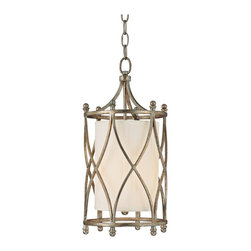 "Lamps Plus - Traditional Fifth Avenue Collection 8 1/2"" Wide Foyer Pendant Light - Elegantly light your entryway with a beautifully detailed foyer light from Fifth Avenue Collection. The winter gold finish highlights the pleated fabric shade handsomely. A frosted glass diffuser ensures the perfect soft lighting. Winter gold finish. Pleated fabric stay straight shade. Frosted glass diffuser. Takes one 60 watt bulb (not included). 8 1/2"" wide. 18"" high. Hang weight 9lbs.   Winter gold finish.   Pleated fabric stay straight shade.   Frosted glass diffuser.   Takes one 60 watt bulb (not included).   8 1/2"" wide.   18"" high.   Hang weight 9lbs."