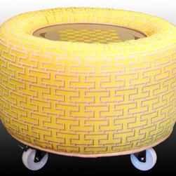 "TrueBee® Design - TrueBee® Design CROWN Storage Ottoman - Dimensions:  29.25"" DIA x 20.5"" H"