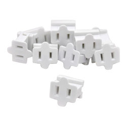 Seasonal Source - White Slide-On Female In-Line Outlet - 10 Pack - Slide-on female in-line outlets are the perfect solution for created your own extension cords.  With these adapters you can customize and create any length of power cord that you need.