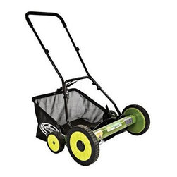 "Snow Joe - 20in Manual Reel Mower - Sun Joe Mow Joe 20"" Manual Reel Mower with Catcher for medium lawns  20"" Cutting Width  Tailor cutting heights up to 2.44"" deep  5 steel blades  6.6 gallon Grass Catcher Capacity  9-position manual height adjustment  Compact design and easy to assemble   Comfortable foam grip  Weight: 30 pounds.  This item cannot be shipped to APO/FPO addresses. Please accept our apologies."