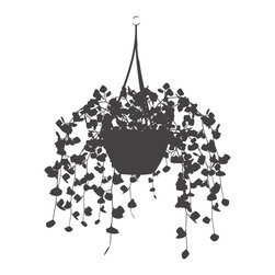 Dana Decals - Foliage Hanging Basket Wall Decal - Ideal for homes, kids rooms, and schools.