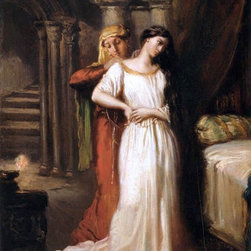 "Theodore Chasseriau Desdemona Retiring to Her Bed   Print - 18"" x 24"" Theodore Chasseriau Desdemona Retiring to Her Bed premium archival print reproduced to meet museum quality standards. Our museum quality archival prints are produced using high-precision print technology for a more accurate reproduction printed on high quality, heavyweight matte presentation paper with fade-resistant, archival inks. Our progressive business model allows us to offer works of art to you at the best wholesale pricing, significantly less than art gallery prices, affordable to all. This line of artwork is produced with extra white border space (if you choose to have it framed, for your framer to work with to frame properly or utilize a larger mat and/or frame).  We present a comprehensive collection of exceptional art reproductions byTheodore Chasseriau."