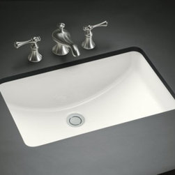 KOHLER - KOHLER K-2214-G-0 Ladena Undercounter Bathroom Sink - KOHLER K-2214-G-0 Ladena Undercounter Bathroom Sink with Glazed Underside, Less Overflow in White