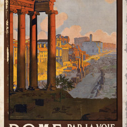 Keep Calm Collection - Rome Vintage Travel Poster, art print - This product is reproduced from a publication, advertisement, or vintage poster. To maintain consistency with the original image, this final product has not been retouched. This print is produced on a 270 gsm fine art paper stock.