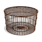 Round Wrought Iron Coffee Table - Aidan Gray - Add some vintage industrial style and a unique texture to a room with this heavy gauge wire table.