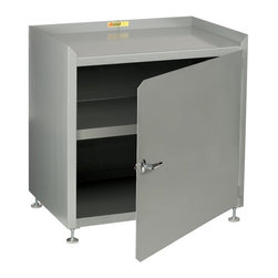 Little Giant - Little Giant Stationary Shop Cabinet Multicolor - MC3-1D-1818-LL - Shop for Cabinets from Hayneedle.com! Lock your tools and other important supplies up tight in the solid steel Little Giant Stationary Shop Cabinet. This heavy-duty cabinet features a chrome locking handle on the door with 2 keys so you always have a spare. There's no assembly required and the leg levelers made it easy to adjust on unlevel surfaces or raise the body up to a more comfortable height. A variety of size options are available so whether you need to store a little or a lot this powder-coated gray steel unit can meet your needs. *Do Not Exceed Overall Weight Capacity About Little Giant ProductsThe Little Giant Products Division of Brennan Equipment & Manufacturing Inc. has been providing innovative material handling and industrial storage solutions for over 50 years. From their centrally located manufacturing facility in the southwest suburbs of Chicago they produce an extensive line of workbenches and shop furniture industrial storage equipment floor trucks and hand carts. Their products feature all-welded construction from heavy-gauge steel and have earned a reputation within the industry for quality and durability in even the most demanding applications.