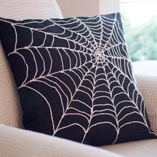 Spider Web Pillow Cover Arachnophobia Spiderweb by BubbleGumDish