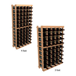 """Wine Cellar Innovations - Five Column Individual; WineMaker: Rustic Pine, Light Stain - 3 Ft - Each wine bottle stored on this five column individual bottle wine rack is individually cradled. All WineMaker wine racks must be mounted 1 1/2"""" off the wall to ensure proper wine bottle stability. Assembly Required."""