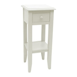EuroLux Home - New Plant Stand White/Cream Painted Hardwood - Product Details