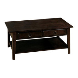 Jofran - Jofran Heirloom 48x27 Cocktail Table - Set a sophisticated tone for your living room with this sleek coffee table, which comes in rich dark finish that will offset any style of decor elegantly. This sturdy wood rectangular table is a piece you'll be glad you bought for years to come.