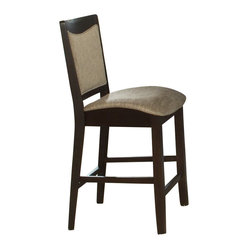 Liberty Furniture Ashby Contemporary Counter Height Chair in Espresso (Set of 2)