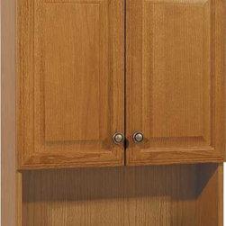 "RSI HOME PRODUCTS - Oak 24"" Bath Storage Cabinet - Oak 23"" bath storage cabinet with 1 adjustable shelf."