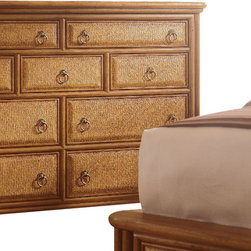American Drew - American Drew Antigua Tall Drawer Dresser with Landscape Mirror - Antigua combines popular materials, finishes, hardware and shapes and blends them with pieces for today's lifestyles. It is a collection sure to add a sophisticated coastal or tropical flare to any home. Unique options for bedroom make it easy to create the perfect setting that fits your style.