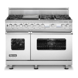 """Viking 48"""" Pro-style Dual-fuel Range, Stainless Steel Natural Gas 
