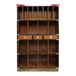 """Authentic Models - Authentic Models Black Ritz Lobby Hotel Cabinet - Our Authentic Models Black Ritz Lobby Bookcase stores novels, hats, handbags, gloves, travel gear,newspapers,and keys..... you name it, it proudly displays it!          * Dimensions:36.4 x 16.1 x 61.4"""""""