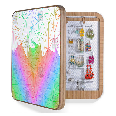 Fimbis Billy Rays BlingBox - A BlingBox is a dorm necessity for ladies with a lot of jewelry to keep organized. Luckily, it comes in an excellent geometric and colorful design by Fimbis.