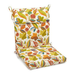 Blazing Needles - Blazing Needles Outdoor 3-Section 22 x 45 in. High Back Patio Chair Cushion - 92 - Shop for Cushions and Pads from Hayneedle.com! Comfort and style live in the Blazing Needles Outdoor 3-Section 22 x 45 in. High Back Patio Chair Cushion. The perfect way to give your favorite patio chair personality this cushion comes in your choice of a wide variety of patterns and colors. It's made with an all-weather fabric that's fade and water resistant. This cushion has a taller back headrest and offers a thick Dacron padding. Handy ties keep it in place. Fits most standard high back patio chairs. Main image shown is *Skyworks Multi color option. About Blazing NeedlesBlazing Needles L.P. specializes in the manufacture of cushions pillows and futons. As a sister company of International Caravan Inc. Blazing Needles provides a wide variety of cushions to fit the frames and furniture pieces made by International Caravan. In particular Blazing Needles' production of papasan cushions occupies a unique niche within their industry and sets them apart as a prime supplier for certain retailers. Other services they provide include contract filling sewing and import sourcing. The headquarters of International Caravan and Blazing Needles is located in Fort Worth Texas.