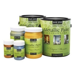 MODERN MASTERS, INC. - ME701-Gal Rich Gold Metallic - Metallic paint collection exciting finishes without toxic products for walls, ceilings, doors, furniture, etc.