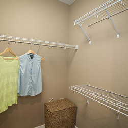 Decorative Moulding & Millwork - Stack or rack clothes, hats, sweaters and more. ClosetMaid wire shelving helps you see everything you choose to store. Photo courtesy of Infinity Homes.