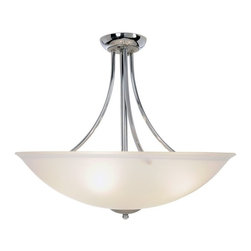 """AF Lighting - AF Lighting Essen 4-Light Chrome & Brushed Nickel Ceiling Flush Mount Pendant - This is a brand new pendant light from AF Lighting (model # 617508). Sleek. Stylish. Sublime. The Essen lighting collection redefines contemporary fashion and functionality in modern light fixtures. This four-light pendant fixture combines the classic look of polished chrome with the modern appeal of brushed nickel accents. Make a bold design statement and create visual impact with Essen light fixtures. Uses (4) 60 W medium base bulbs (not included). Pendant measures 22"""" W by 20"""" H. This pendant retails for $206.42"""