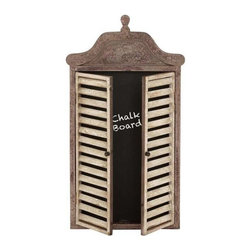 BZBZ50988 - Abies Wood Wall Blackboard Cabinet with Shutter - Abies wood wall blackboard cabinet with shutter. Abies wood wall blackboard cabinet with shutter. Some assembly may be required.