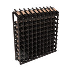 Wine Racks America - 100 Bottle Display Top Wine Rack in Redwood, Black Stain + Satin Finish - Make your top 10 vintages focal points of your cellar or store. Our wine cellar kits are constructed to industry-leading standards. You'll be satisfied. We guarantee it. Display top wine racks offer ample storage below a presentation row. Great as a stand alone unit or paired with other modular racks from our product lineup.