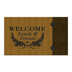 BuyMATS Inc. - Welcome Crest Welcome Mat - •Exciting full color design Indoor/Oudoor Entry MAT with built in channels provide high fashion appeal.
