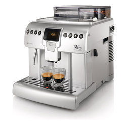 Saeco - Saeco HD8930/47 Royal One Touch Cappuccino Maker - Capture life in a cup and make the perfect cappuccino with the Royal One Touch Cappuccino Maker from Philips Saeco. This worthy appliance offers a glossy silver color option, and a 2.2 liter water tank capacity.