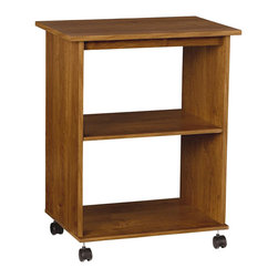 Ameriwood - Ameriwood Utility Cart in Bank Alder - Ameriwood - Storage Units - 5702301P - Utility Cart is great for any room in the house where extra storage space is needed. It features 2 fixed shelves casters for easy mobility a rich alder finish and requires easy assembly.