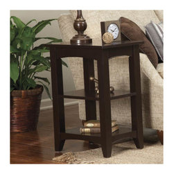 Alaterre - Shaker Cottage End Table - Features: -Shaker Cottage collection. -Composite wood construction. -Two shelves. -General conformity certificate. -Manufacturer provides 9 years warranty and 1 year guarantee against manufacturing related issues.