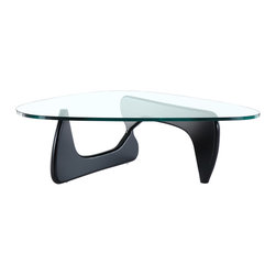 Manhattan Home Design - Noguchi Tribeca Coffee Table, Black - The Tribeca Coffee Table originally designed in 1944 by Isamu Noguchi has become one of the most distinguished pieces of furniture of the century.