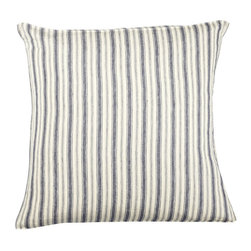 Libeco - Antibes Pillow Sham, Navy, Euro - The Antibes collection was inspired by old Dutch sail boats and has a slightly vintage feel about it.  Choice of Old Red or Navy.