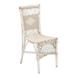 SOLD OUT! Vintage White Wicker Chair - $450 Est. Retail - $125 on Chairish.com -