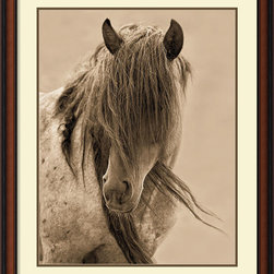 Amanti Art - Lisa Dearing 'Freedom' Framed Art Print 28 x 34-inch - Add some western charm into your space with this charismatic horse portrait; Freedom by Lisa Dearing.  A perfect piece for the equestrian enthusiast!
