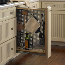 Pullout Perforated Organizer with Hooks