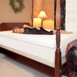 Slumber Solutions - Slumber Solutions Highloft Supreme 4-inch Memory Foam Mattress Topper - You won't have to worry about restless nights when you sleep on this 4-inch Slumber Solutions memory foam topper. Made from high-density memory foam,the mattress topper helps improve your circulation and relieves the pressure from your pressure points.