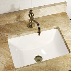 HIGHPOINT COLLECTION - Highpoint Collection Petite 16x11 Rectangle Ceramic Undermount Vanity Lavatory S - Give your home a look that elevates it above others with this small rectangle vanity / lavatory sink.  Rectangle shape allows for more space.   Sloped sides and a flat bottom give this sink a transitional look.